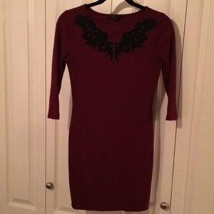 Dresses & Skirts - Red/Black Knit Dress